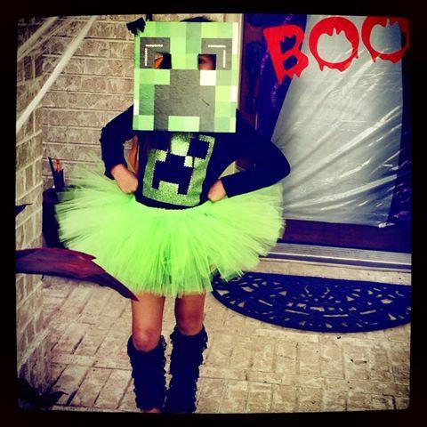 GIRLS LOVE MINECRAFT TOO! Minecraft Creeper Glitter and Rhinestone - minecraft halloween costume ideas