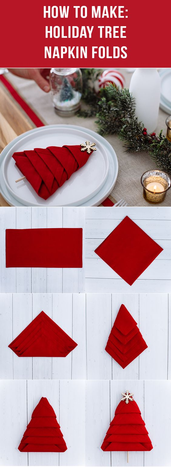 Add personality and style to any holiday table during the festive season with this simple and easy-to-make DIY tree napkin fold! Learn the step-by-step instructions from Walmart today and have a merry and festive holiday!: