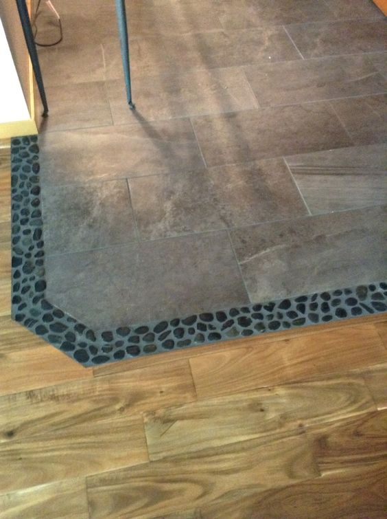 Tile To Wood Transition Flooring Pinterest Tile And