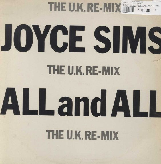 Joyce Sims - All And All (The U.K. Re-Mix)