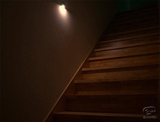 常夜灯 階段 廊下 イメージ