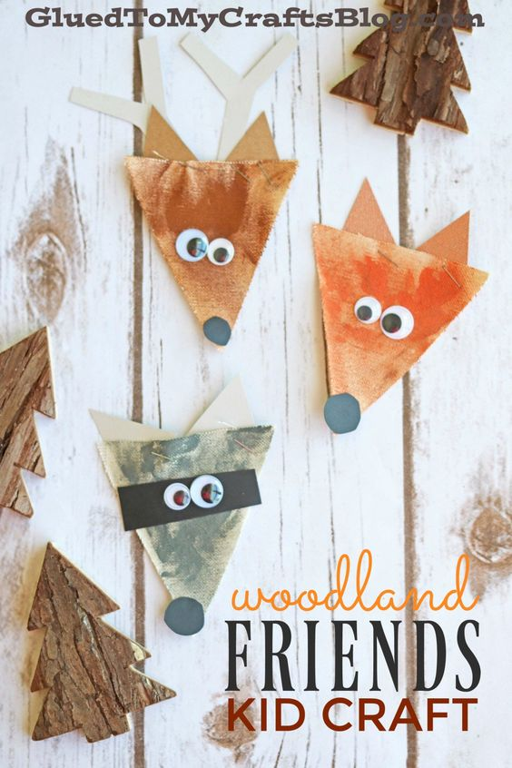 Burlap Woodland Creatures Fall Kid Craft | Glued to my Crafts