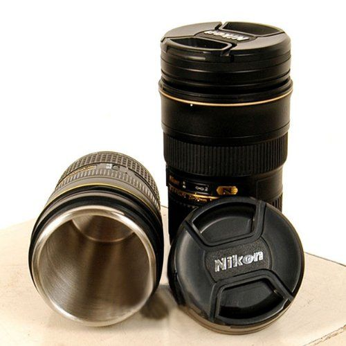 Coffee cups nikon and lenses on pinterest Nikon camera lens coffee mug