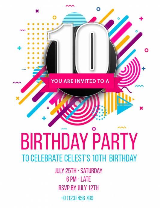 Pin On Birthday Invitation Templates