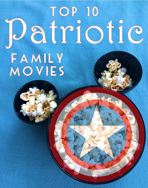 10 Best Family Friendly Patriotic Movies! Perfect for Independence Day, Labor Day, Memorial Day and Veterans Day with kids. #Patriotic 4th of July
