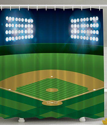 Baseball sports theme Shower Curtain   Stitching, The o'jays and ...