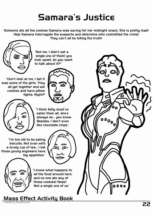 Mass Effect Coloring Book Lovely Mass Effect Coloring And Activity Book Samara S Chin Or Lack Thereof Looks Mass Effect Words Coloring Book King Coloring Book
