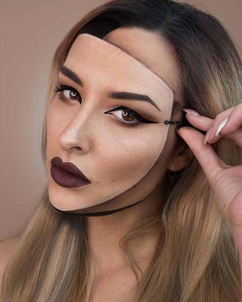 23 Trippy Illusion Makeup Looks For Halloween Halloween Makeup Inspiration Halloween Makeup Looks Halloween Makeup