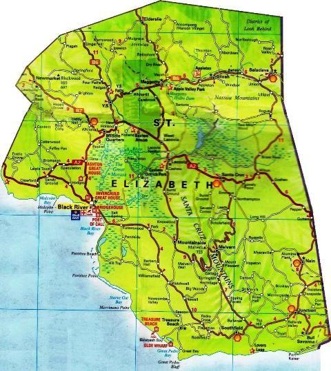 map of st elizabeth parish jamaica St Elizabeth Jamaica Saint Elizabeth Jamaica Map Jamaica map of st elizabeth parish jamaica