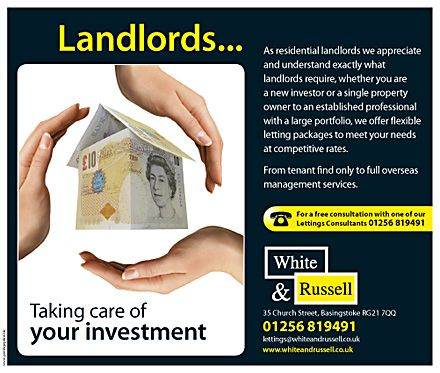 A popular lettings flyer template appealing to Landlords for - rental management template