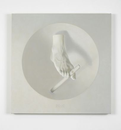 Daniel Sinsel  Untitled, 2010   oil on linen  65 x 65 x 3 cm