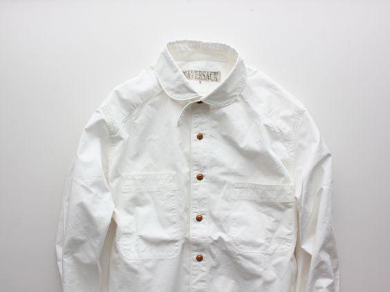 HAVERSACK Vintage Twill Shirts-White-