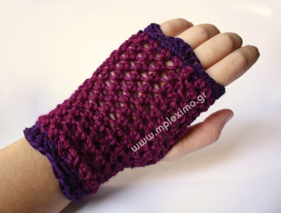 γάντια με το βελονάκι