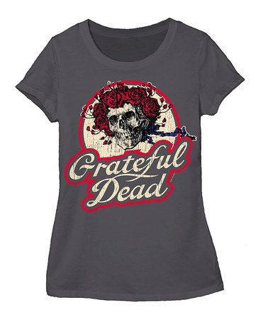 Another great find on #zulily! Charcoal Grateful Dead Skull Tee - Women #zulilyfinds