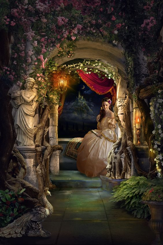 I.J.Digitalbackgrounds Waiting for her prince a medieval version of my daughter in law waiting for my son (a fly in fly out worker) to come home