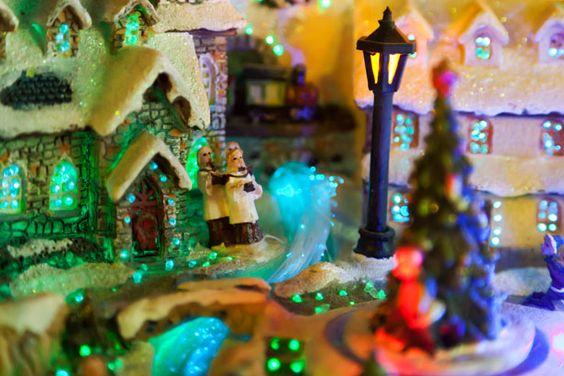Beautiful!!! Décoration - La ville de Noël Photo stock libre - Public Domain Pictures