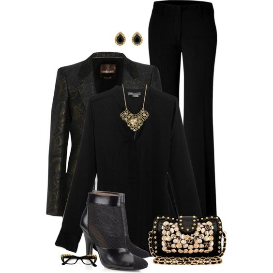 Black & Gold, created by kswirsding on Polyvore
