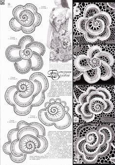 Como Fazer Croche Russo | REGINA RECEITAS DE CROCHE E AFINS: flores para croche…