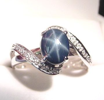 Star sapphire ring  silver
