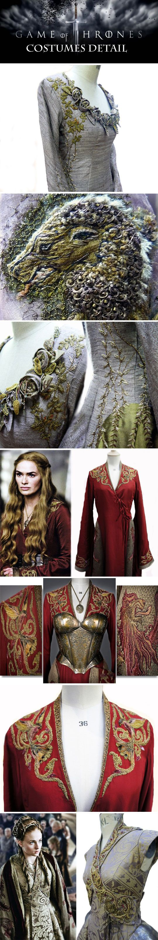 Game of Thrones costumes detail…i don't watch this show, but this was too cool not to pin!