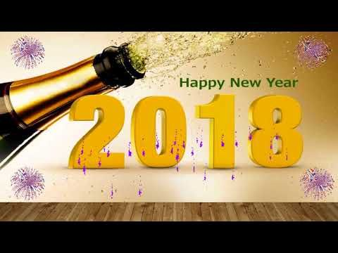 Happy New Year 2018 Wishes Video Download Whatsapp Video Song Countdown Wallpaper Animation Youtube Happy New Year 2018 New Year 2018 Happy New Year