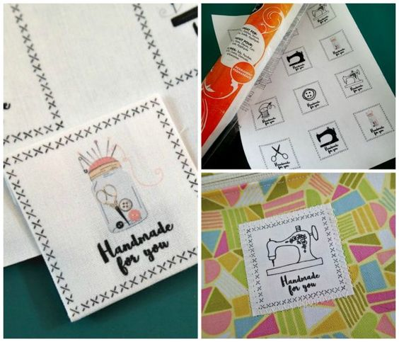 Zany image in printable fabric labels