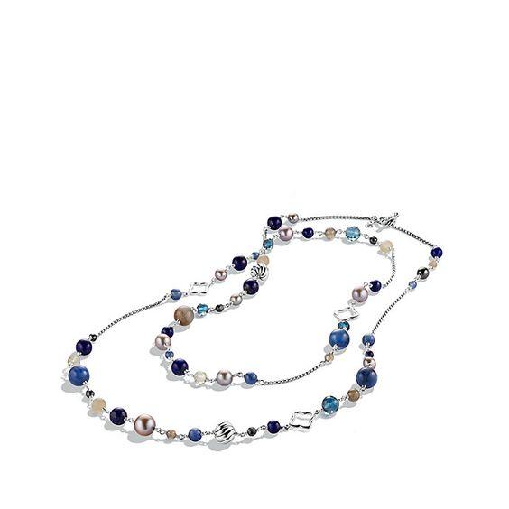 David Yurman Bead Necklace in Multicolor (GRAY PEARL)=950