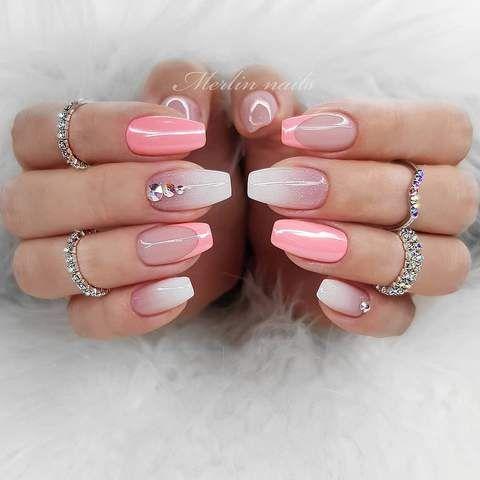 30 Cute Summer Nails Designs Fashion Glamour Trends 2019 Katty Glamour Pretty Nail Art Designs Pretty Nail Art Fall Acrylic Nails