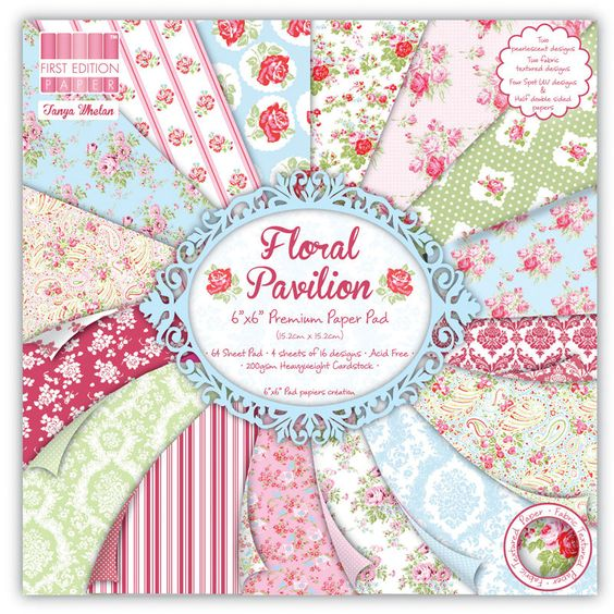 First Edition Floral Pavilion 6 X 6 Paper Pad 64 Sheets | Hobbycraft