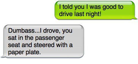 Dumbass....