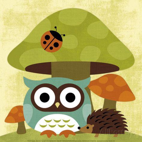 Owl and Hedgehog Láminas por Nancy Lee en AllPosters.es