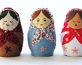 Babushka baby rattle project from The Paper Shed on Etsy.
