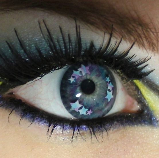 Starry contacts --- cool! talk about stars in my eyes!! literally!