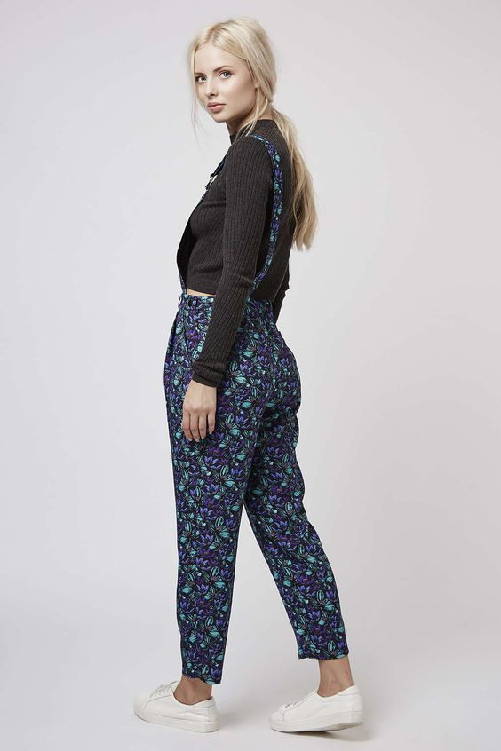 Photo 3 of Floral Print Dungarees