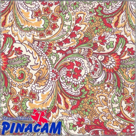 www.manualidadespinacam.com      Servilleta decorativa para decoupage  #manualidades #pinacam #servilletas