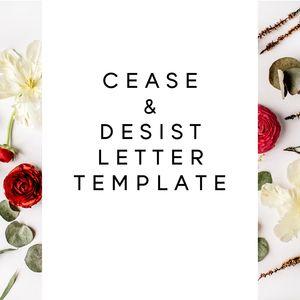 Cease  Desist Letter Template  Contract Templates