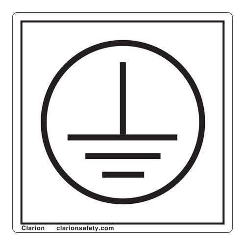 Protective Earth Ground Label Iec5019a Earthing Grounding Earth Symbols Electrical Symbols