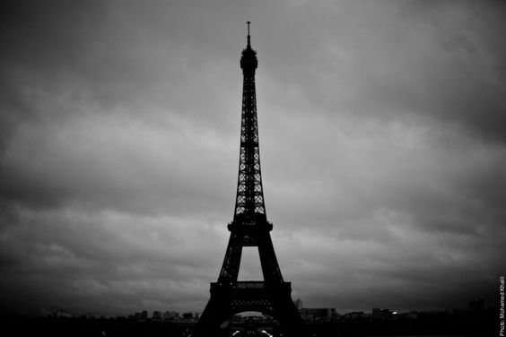 #Black and #White Picture of the  #EiffelTower  #France #Paris  Photo: (c) mohamedkhalil.tumblr.com  Great artist, click  the link to have a look at his pictures :)  Planning a trip to Paris? Book a #room  at Cadran #Hotel www.cadran-hotel-gourmand.com