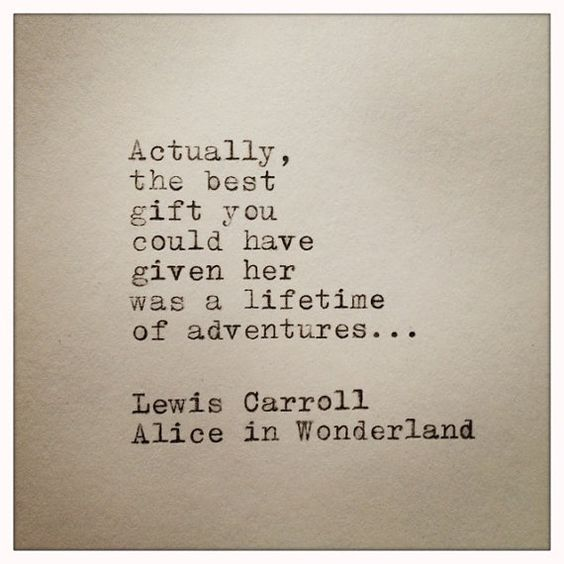 Alice im Wunderland Hand eingegeben Schreibmaschine von farmnflea