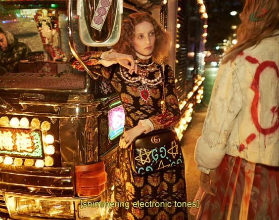 Gucci`s gang of youths takes the party to Tokyo this Autumn/Winter season with Petra Collins playing designated driver. The internet babe/girl hero was tapped by team Alessandro Michele earlier this year for her very first runway show, and her latest casual/glam efforts for the luxury house are peak Gucci. The fomo-inducing campaign sees Petra drive a fully sick party bus, known as a dekotora (decoration truck), around Tokyo. Petra`s super cool crew includes Sofia Friesen, Lia Pavlova, Polin...:
