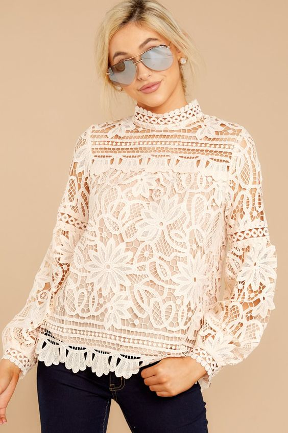 30 Lace Blouses To Inspire Every Woman outfit fashion casualoutfit fashiontrends