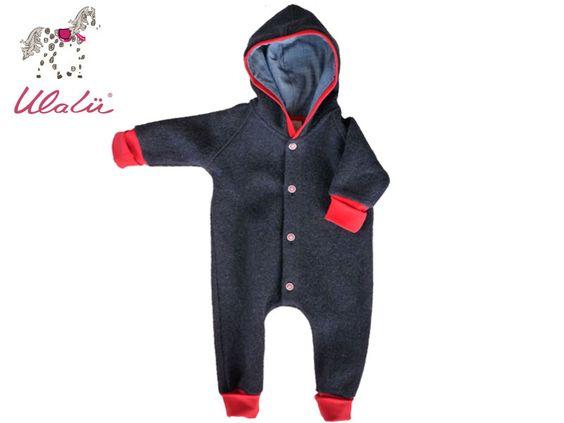 Baby Wollwalk Overall Gr 86 von Ulalü - Naturkinderkleidung, Bio Babymode, Erstausstattung auf DaWanda.com