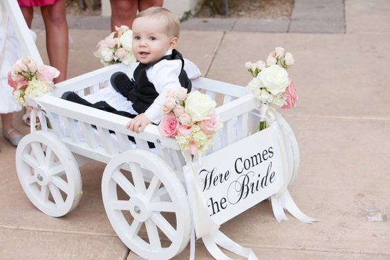 Mia's wagon- (baby flower girl). Mireya can pull while Alaina (next to her) throws petals on the floor ❤️