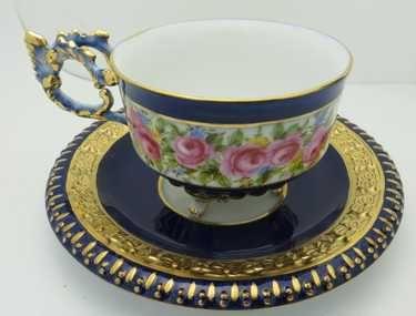 Limoges Porcelain Tea Cup & Saucer - 2