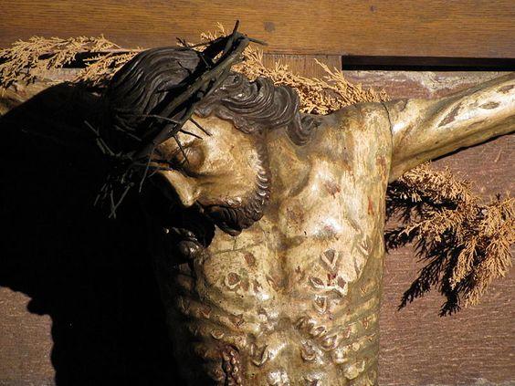 Alsace, Bas-Rhin, Saverne, Eglise romane Notre-Dame de la Nativité, Christ en croix de Nicolas de Haguenau (XVIe):