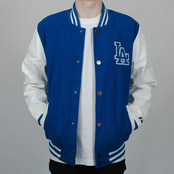 Majestic Athletic La Dodgers Letterman Varsity Baseball Jacket