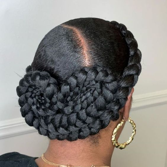 snail braided updo