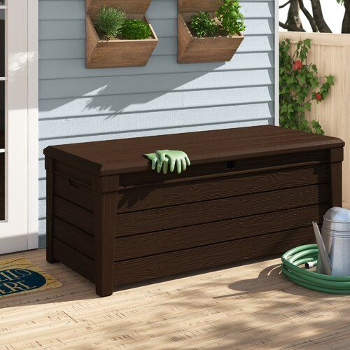 New Brightwood 120 Gallon Resin Deck Box Keter Online Shopping