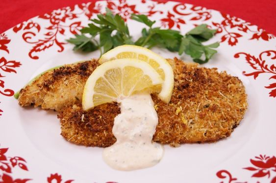 crusted tilapia fried fish garlic aioli fish recipes parmesan parmesan ...