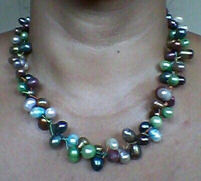 Perlas cultivadas de colores